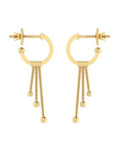 VER-2001 | Vaibhav Jewellers 14K Yellow Gold Drops Earrings VER-2001