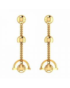 VER-2006 | Vaibhav Jewellers 14K Yellow Gold Danglers Earrings VER-2006