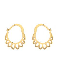 VER-2007 | Vaibhav Jewellers 14K Yellow Gold Huggies Earrings VER-2007