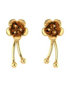 VER-2008 | Vaibhav Jewellers 14K Yellow Gold Drops Earrings VER-2008