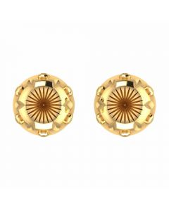 VER-2011 | Vaibhav Jewellers 14K Yellow Gold Studs Earrings VER-2011