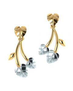 VER-2013 | Vaibhav Jewellers 14K Yellow Gold Studs Earrings VER-2013
