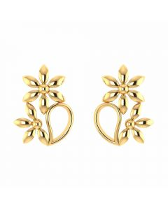 VER-2015 | Vaibhav Jewellers 14K Yellow Gold Studs Earrings VER-2015