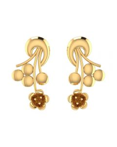 VER-2021 | Vaibhav Jewellers 14K Yellow Gold Studs Earrings VER-2021