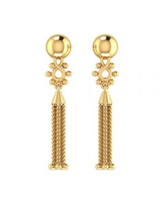 VER-2022 | Vaibhav Jewellers 14K Yellow Gold Danglers Earrings VER-2022