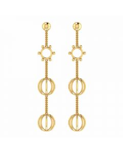 VER-2024 | Vaibhav Jewellers 14K Yellow Gold Danglers Earrings VER-2024