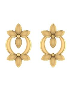 VER-2025 | Vaibhav Jewellers 14K Yellow Gold Studs Earrings VER-2025