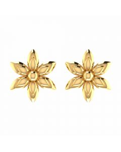 VER-2041 | Vaibhav Jewellers 22K Yellow Gold Studs Earrings VER-2041