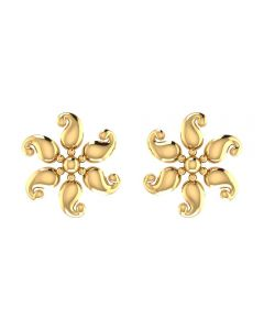 VER-2048 | Vaibhav Jewellers 22K Yellow Gold Studs Earrings VER-2048