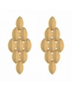 VER-2050 | Vaibhav Jewellers 18K Yellow Gold Earrings VER-2050