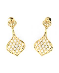 VER-2053 | Vaibhav Jewellers 18K Yellow Gold Drops Earrings VER-2053