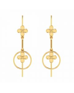 VER-2058 | Vaibhav Jewellers 18K Yellow Gold Danglers Earrings VER-2058