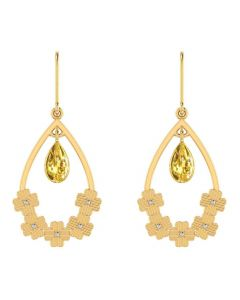 VER-2069 | Vaibhav Jewellers 18KYellow Gold Danglers Earrings VER-2069