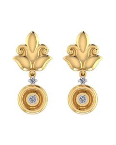 VER-2070 | Vaibhav Jewellers 18K Yellow Gold Danglers Earrings VER-2070