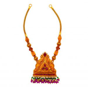 22K Antique Gold Trikon Necklace