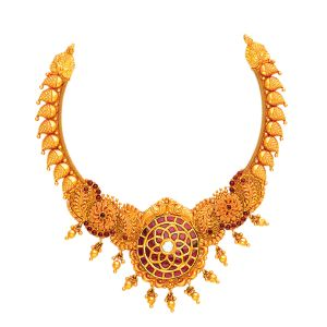 22K Antique Mastani Gold Necklace