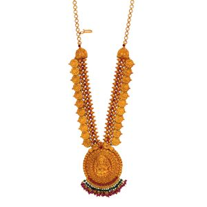 22K Antique Maharani Gold Kasuluperu with Extension