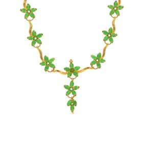 Gold  Fancy Emerald Necklace 10VG3474