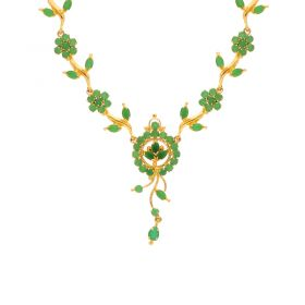 Gold Fancy Emerald Necklace 10VG3748