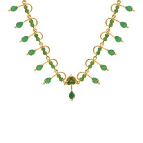Gold Fancy Emerald Necklace 10VG3749