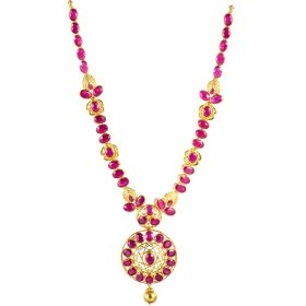 Ingenuous Ruby Gold Necklace