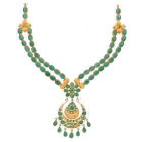 Double Layered Emerald Necklace