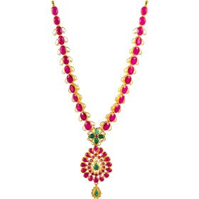 Simple Ruby Gold Necklace