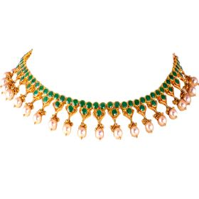 Effortless Emerald Gold Necklace