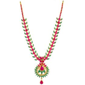 Ruby Emerald Twilight Gold Necklace