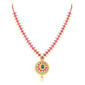 22KT Grand Ruby Gold Necklace 110VG3976