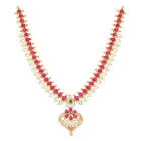 22KT Ruby Gold Necklace 110VG4059