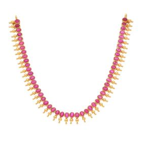 22KT Ruby Gold Necklace 110VG4070