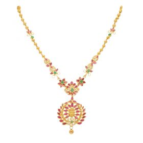 22KT Ruby Gold Necklace 110VG4093