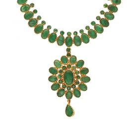 22kt Gold Emerald Necklace  110VG4354