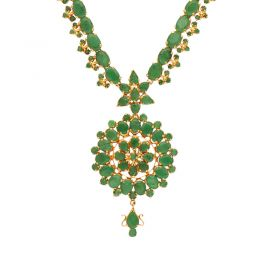 22kt Gold Emerald Necklace  110VG4446