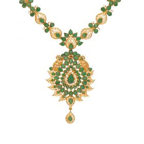 22kt Gold Gold Emerald Necklace  110VG4453