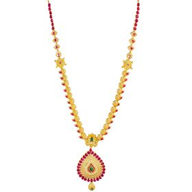 Elementary Ruby Gold Necklace