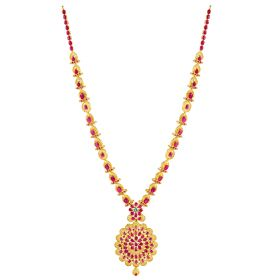 Scarlet Charm Ruby Gold Necklace