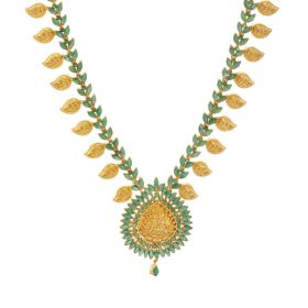 Emerald Paisley Motif Necklace