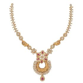 Polki Skirted Antique Gold Necklace