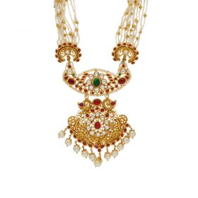 22K Gold Antique Necklace with 127VG3665