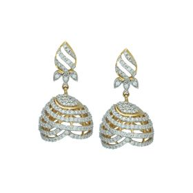 Signity Umberella Cut Jhumka Earrings
