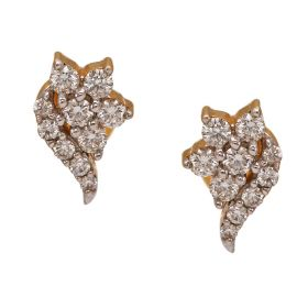 Graceful Conch Diamond Studs