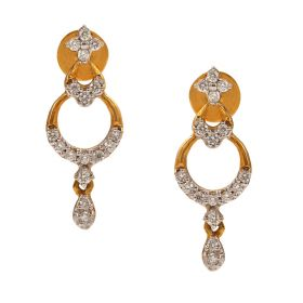 Muti-tiered Drop Diamond Earrings