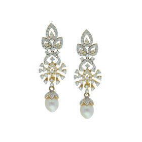 Signity Starlet Pearl Drop Earrings