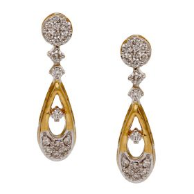 Elegant Drop Diamond Earrings