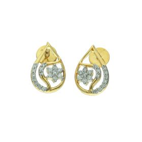 Pear Drop Stone Stud Earrings