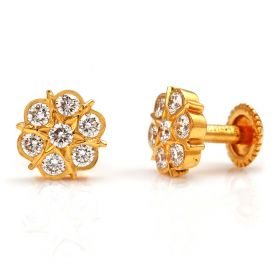 Blazing Sun Diamond Studs Earrings