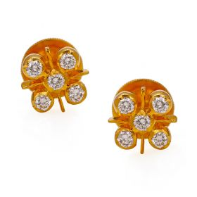 22 KT Diamond Earrings
