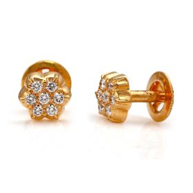 Traditional 7 Stone Diamond Stud Earring